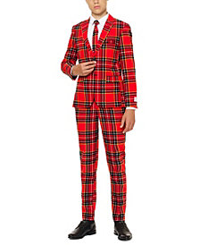 OppoSuits The Lumberjack Slim-Fit Suit & Tie Set, Big Boys