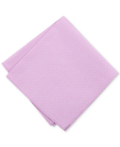 Bar III Men's Houndstooth Dot Pocket Square, Created for Macy's