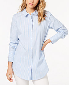 kensie Cotton Striped Shirt