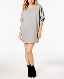 kensie Elbow-Sleeve Sweatshirt Dress