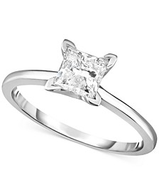 Diamond (1 ct. t.w.) Princess Engagement Ring in 14k White, Yellow or Rose Gold