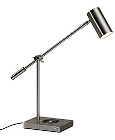 Collette LED Desk Lamp with Wireless Air Charger & USB Port