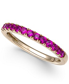 Certified Ruby Band (1/2 ct. t.w.) in 14k White Gold (Also Available in Emerald, Sapphire & White Sapphire)