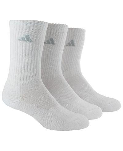 adidas 3-Pk. Cushioned ClimaLite® Socks