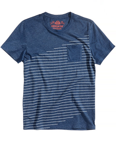 American Rag Men's Indigo Stripe T-Shirt, Created for Macy's