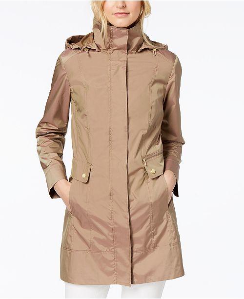6ec36246c23c Cole Haan Packable Hooded Raincoat   Reviews - Coats - Women - Macy s