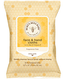 Burt's Bees Baby Bee Face & Hand Cloths, 30-Pk.