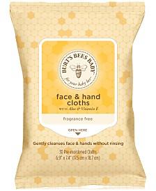 Burt's Bees Baby Bee Face & Hand Cloths, 30-Pk.