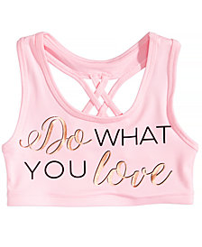 Ideology Do What You Love Sports Bra, Big Girls, Created for Macy's