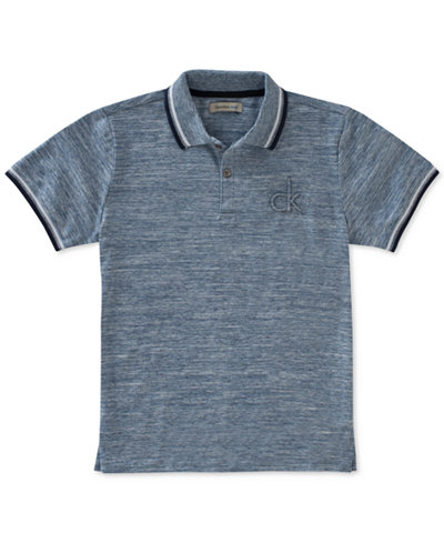 Calvin Klein Marled Space-Dyed Polo, Big Boys