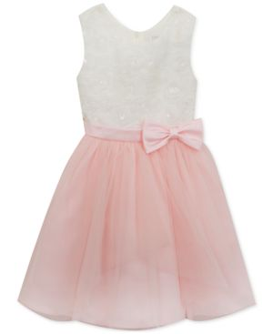 Rare Editions Soutache Pink Cascade Dress, Toddler Girls, Created for Macy's 5671091