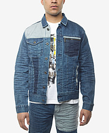 Sean John Men's Pieced Denim Jacket, Created for Macy's