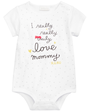 First Impressions Love Mommy Bodysuit Baby Girls (024 months) Created for Macys