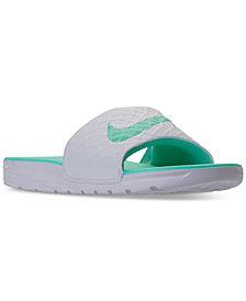 Nike Women's Benassi Solarsoft 2 Slide Sandals from Finish Line