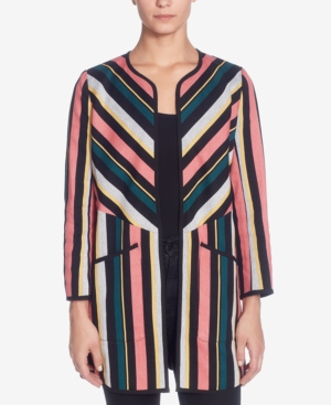 Catherine Malandrino CATHERINE CATHERINE MALANDRINO STRIPED OPEN-FRONT JACKET