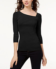 I.N.C. Petite Asymmetrical Sweater, Created for Macy's