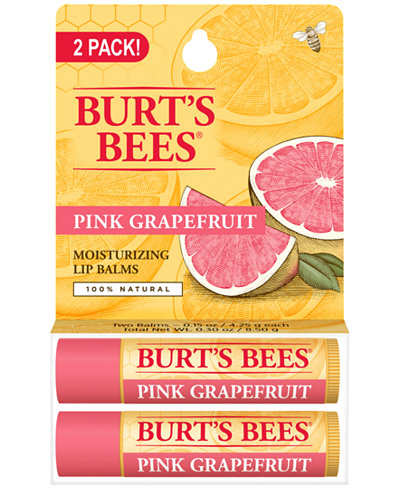 Burt's Bees 2-Pc. Pink Grapefruit Refreshing Lip Balm