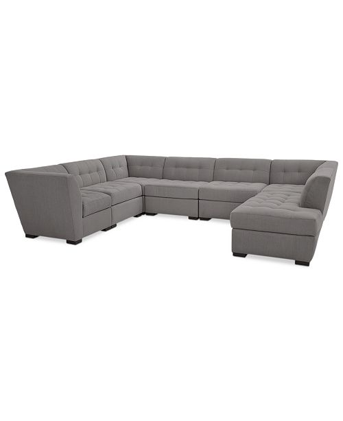 Furniture Roxanne Ii Performance Fabric 7 Pc Modular Sofa With Per Chaise Created For Macy S