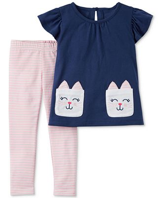 Carter's 2-Pc. Bunny Cotton Top & Leggings Set, Toddler Girls