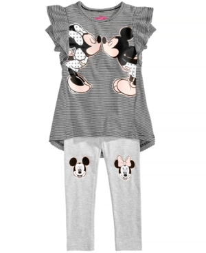 Disneys Minnie Mouse 2Pc GraphicPrint Top  Legging Set Little Girls (46X)
