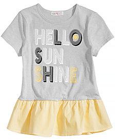 Kandy Kiss Hello Sunshine Ruffle T-Shirt, Big Girls