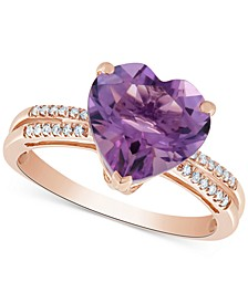 Amethyst (3-1/5 ct. t.w.) & Diamond Accent Ring in 14k Rose Gold