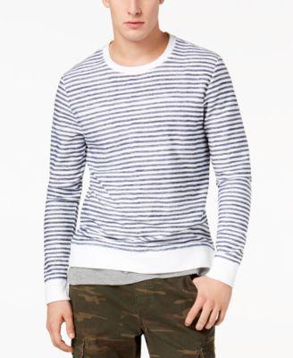 Men's Layered Striped Sweatshirt, Created for Macy's
