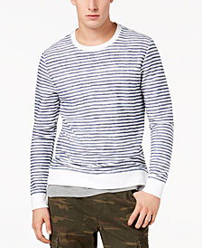 American Rag Men's Layered Striped Sweatshirt, Created for Macy's