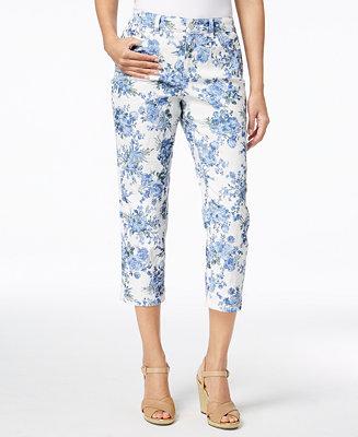0c944262351 Charter Club Bristol Printed Capri Pants