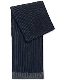 BOSS Men's Textured Merino Wool Scarf