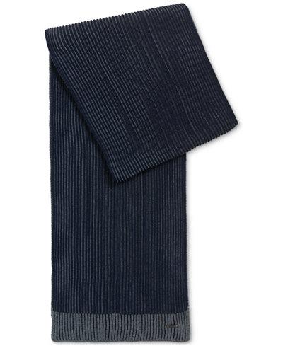 BOSS Men's Textured Merino Wool Scarf