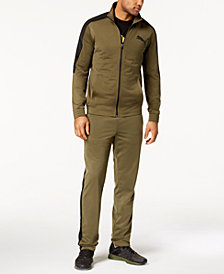 Puma Men's Tricot Track Jacket, Logo T-Shirt & Track Pants