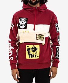 Hudson NYC Men's Riot Colorblocked Graphic-Print Patch Hoodie