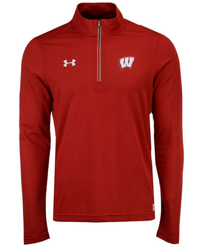 Under Armour Men's Wisconsin Badgers Sideline Microthread Quarter-Zip Pullover