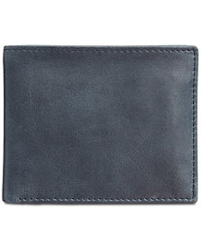 Tasso Elba Men's Abott Traveler Leather Bifold Wallet, Created for Macy's