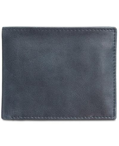 Tasso Elba Men's Abott Traveler Leather Bifold Wallet, Created for Macy's