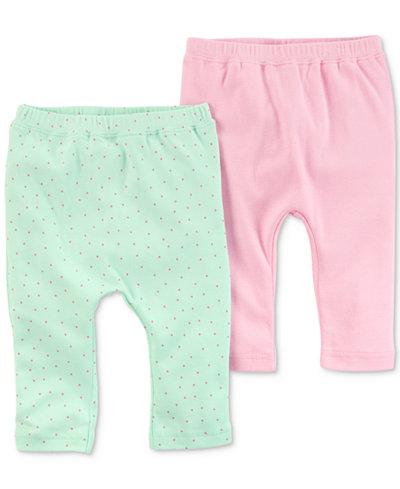 Carters Little Planet Organics 2-Pack Cotton Pants, Baby Girls