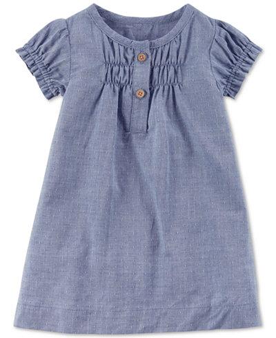 Carters Little Planet Organics Chambray Cotton Dress, Baby Girls