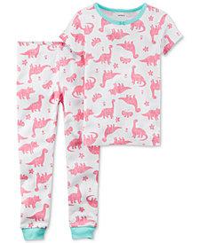 Carter's 2-Pc. Dino-Print Cotton Pajamas, Baby Girls
