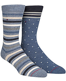 Tommy Hilfiger Print Trouser Socks, 2 Pack