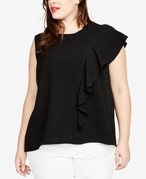 Rachel Roy TRENDY PLUS SIZE RUFFLED TOP, CREATED FOR MACY'S