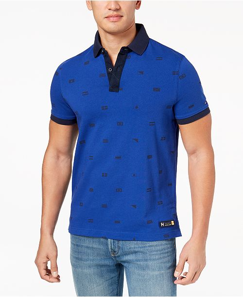 683430f29838 Tommy Hilfiger Men s McCormack Graphic-Print Polo   Reviews ...