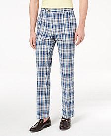 Lauren Ralph Lauren Men's Classic-Fit Blue Plaid Madras Dress Pants