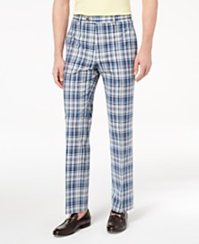 Lauren Ralph Lauren Men's Classic-Fit Blue Plaid Madras Dress Pants