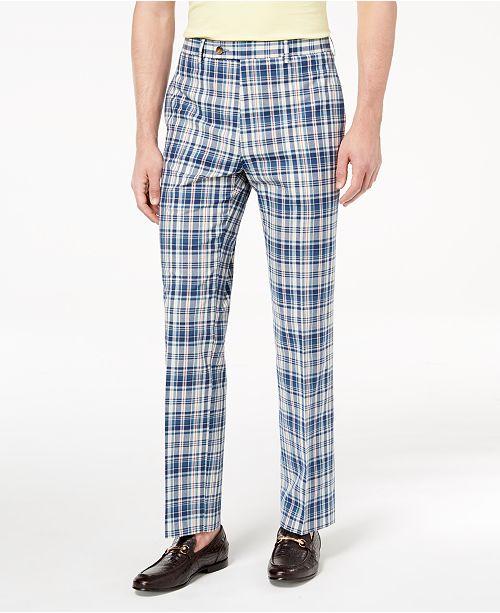 6aa0cb010475 ... Lauren Ralph Lauren Men s Classic-Fit Blue Plaid Madras Dress Pants ...