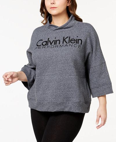 Calvin Klein Plus Size Logo-Print Active Sweatshirt