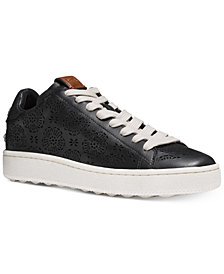 COACH C101 Perforated Fashion Sneakers