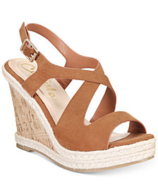 Callisto Brielle Espadrille Platform Wedge Sandals