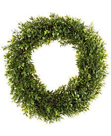 """Pure Garden Faux Hedyotis 15"""" Round Wreath"""