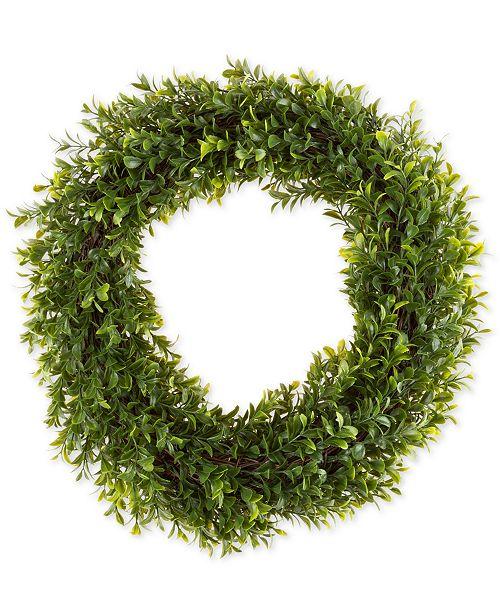 "Trademark Global Pure Garden Faux Hedyotis 15"" Round Wreath"